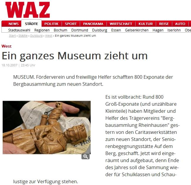 Geschichte Der Ausstellung Rheinhauser Bergbausammlung